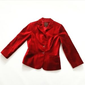 The Limited Red Velvet Blazer Christmas Holidays